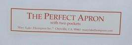 The Perfect Apron A1737R Nutcracker Trio Two Pockets 100 Percent Cotton image 2