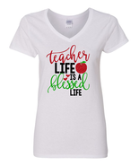 Teacher Life is a Blessed Life Shirt, Teacher Appreciation Gift, Shirt f... - $14.99