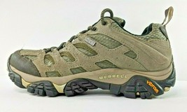 Merrell Womens 7 Hiking Shoes Trail Mid Boots  Select Dry Vibram Sole Gray Brown - $38.51