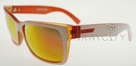 Von Zipper Elmore Frostbyte Whiteout Orange Lunar Glo Sunglasses WWO - $116.62