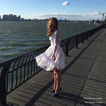 White Tulle Midi Skirt Women Knee Length White Tutu Skirt Outfit Street Style image 3