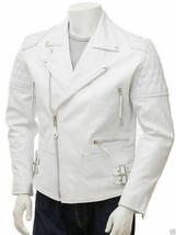 Mens Leather Jacket 100% Genuine Lambskin Slim Fit Biker Jacket MJ# 030 - $69.29+