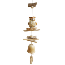 Wood and Ceramic Owl Wind Chime - £23.01 GBP