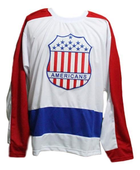 Custom Name # New York Americans Retro Hockey Jersey New White Any Size