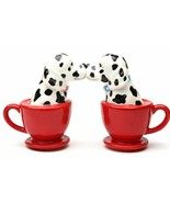 Pacific Giftware Kissing Dalmatian Dogs in Tea cup 3.5'' Tall Magnetic S... - $12.86