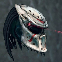 Predator Motorcycle Helmet Motive Mask Jason Blood (Dot & Ece Certified) - $355.00