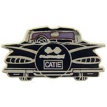 Chevy 1959 Rear Black Car Emblem Pin Pinback    - $7.91