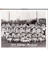 1963 Billings Mustangs Team Photo    - $9.95