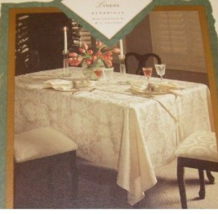 """WATERFORD """"EXETER"""" TABLELCLOTH/NAPKINS SET OF 5 70"""" X 104"""" COTTON FLORAL RED NEW - $119.55"""