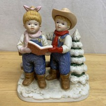 """Home Interiors """"Denim Days"""" Porcelain """"Let's Go Caroling Vintage 1998 Ho... - $16.99"""