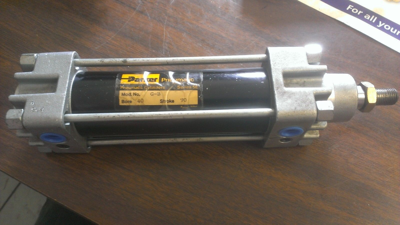 Primary image for Parker Pneumatic Air Cylinder  40MM Bore X 90MM Stroke Model G-B