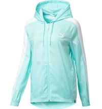 Puma Womens Evo Windrunner Ultralight Jacket Size Xl Aruba Blue $70 - Nwt - $39.19