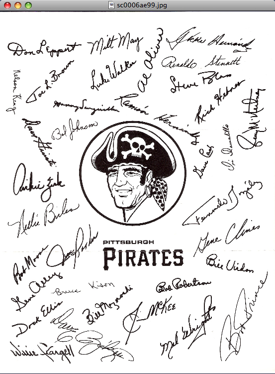 1973 Pittsburgh Pirates Team Photo