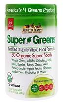Country Farms Super Greens Natural flavor, 50 Organic Super Foods, USDA Organic