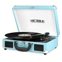 Victrola VSC-550BT-TRQ Bluetooth Suitcase Record Player Turntable in Tur... - £45.32 GBP