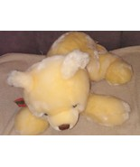 "RBI Ron Banafato Cream Color Bear Plush wearing Red & Green Bow 16"" Long - $14.96"