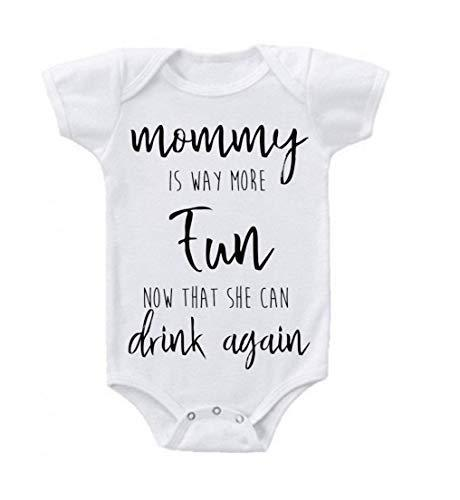 Primary image for Mommy is Way More Fun Now That She Can Drink Again Baby Bodysuit Romper 0-3 Mont