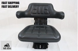 Black Ford Farm Tractor Universal Waffle Trac Brand Suspension Spring Seat - $74.99