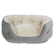 PAWSLIFE Memory Foam Pet Bed in Grey - £28.26 GBP