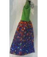 Vintage Barbie Best Buy #3206 Bubbles Green Knit Halter Dress and shoes  - $95.00