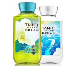 BATH & BODY WORKS Tahiti Island Dream Body Lotion + Shower Gel Set - $25.63