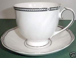 Wedgwood Crown Platinum Tea Cup & Saucer Made in UK New - $19.90