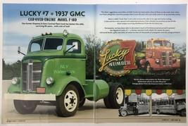 Print Ad Lucky #7 1937 GMC  F-18D Green 22 X 9 1/2 - $13.91