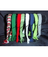 "Hand Knit Scarf for 11.5"" fashion dolls, Santa's Helper Elf or Wine Bott... - $5.95"