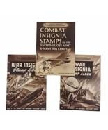 WWII Walt Disney Combat War Insignia Stamp Albums 1 2 3 Los Angeles Exam... - $182.05