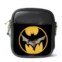 Sling Bag Leather Shoulder Bag Batman Logo In Beautiful Elegant Black Design For - $14.00