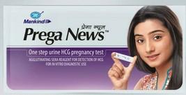 PREGA NEWS PREGNANCY CHECK KIT TEST STRIPS  HOME URINE KIT, ( 5  PACKS ) - $12.38