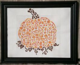 Tribal Pumpkin monochrome cross stitch chart White Willow stitching - $7.65