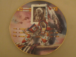 A MILE IN HIS MOCCASINS collector plate LISA DANIELLE Indian Native Amer... - $19.99