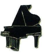 12 Pins - BLACK GRAND PIANO , music lapel pin #4661 - $9.00