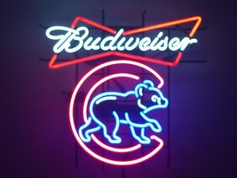 New Budweiser Beer Chicago Cubs Champions Logo Bar Light Lamp Neon Sign ... - $182.33
