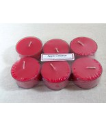 Apple Cinnamon PURE SOY Tea Lights (Set of 6) - $5.00