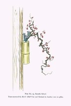 Tsuru-umemodoki & Rindo (Staff Vine and Gentian) in a Bamboo Vase by Josiah Cond - $19.99+