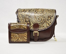 RARE SET Brahmin Limited Edition The Hunt + Index Wallet in Tan Trellis - $419.00