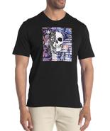 Robert Graham Skull Wolf Rose Print Graphic T Shirt Crew Neck Black - $78.00