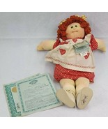 Original Vintage 1984 Soft Sculpture Cabbage Patch Doll Red Hair With Paper - $250.00