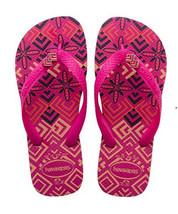NWT Havaianas Women's Raspberry Rose Gracia Fashion Flip Flop Sandals 7 - $29.69
