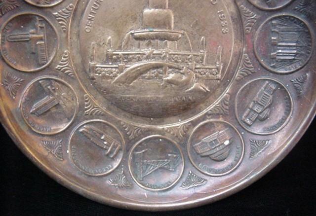 1933 Chicago Century of Progress World's Fair Copper Dish