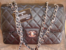 Authentic Chanel Classic Flap bag Caviar skin F... - $1,750.00