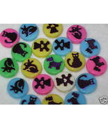 20 - 13mm Pet Picture Plastic Coin Beads - $1.35