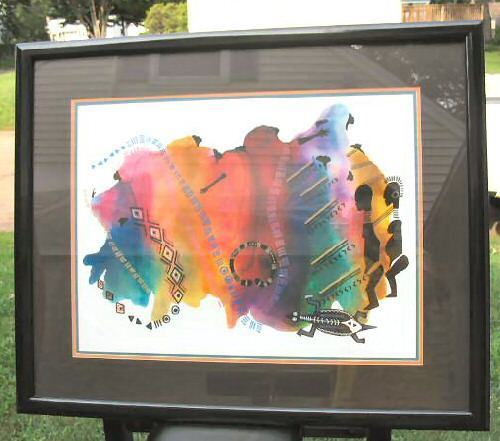 Large Limited Print Framed African Art Signed Framed 239/950