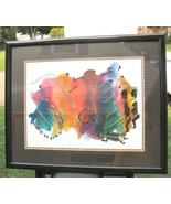 Large Limited Print Framed African Art Signed Framed 239/950 - $200.00