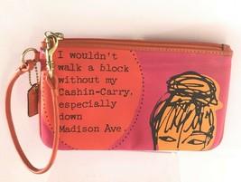 Coach Vintage Bonnie Cashin-Carry Madison Ave Wristlet Bag Wallet Pink O... - $74.25
