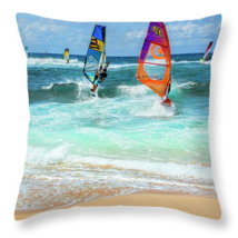 Maui Windsurfers, Throw Pillow, fine art, home ... - $41.99 - $69.99