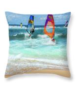 Maui Windsurfers, Throw Pillow, fine art, home decor, accent pillow - $41.99 - $69.99