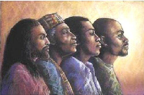 Monica Stewart Men of Vision Art Print Framed African